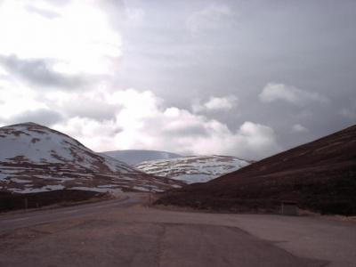 View towards Glas Maol from A93 (Braemar side), below ski area. April 2001