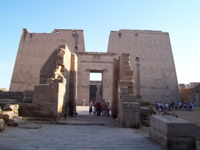 The Egyptian temple at Edfu, August 2005.