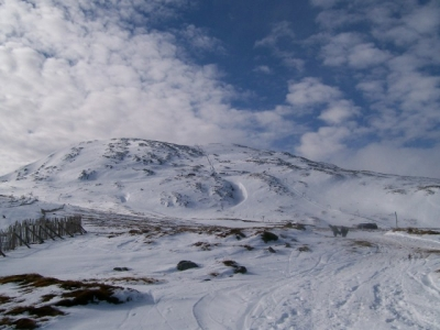 Glencoe from the lower plateau, March 2008.