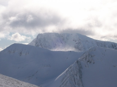 Ben Nevis, the highest mountain in the British Isles. March 2008.
