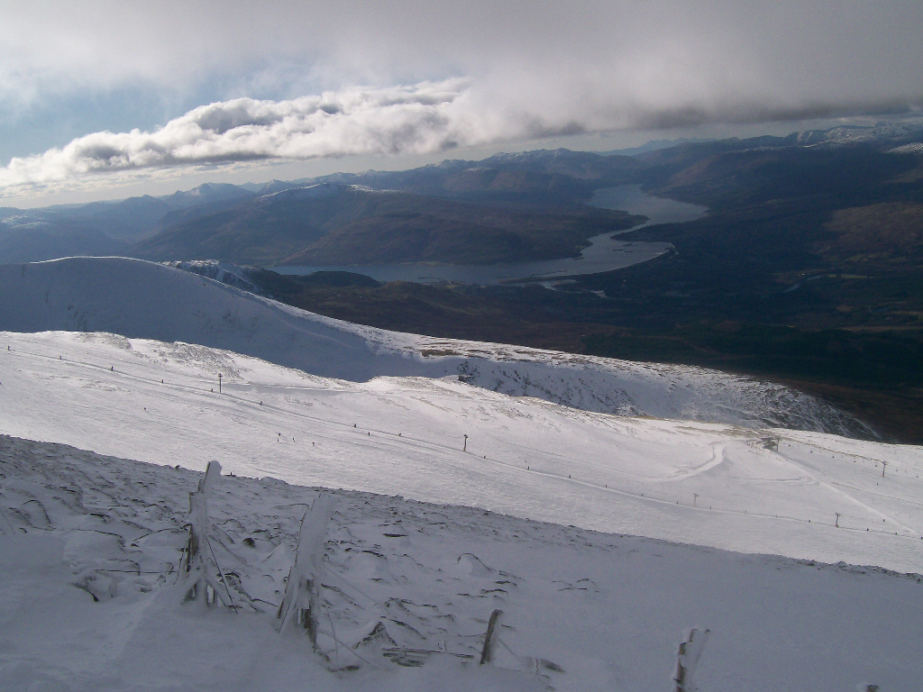 Looking across the Goose towards Loch Eil and Fort William. March 2008.
