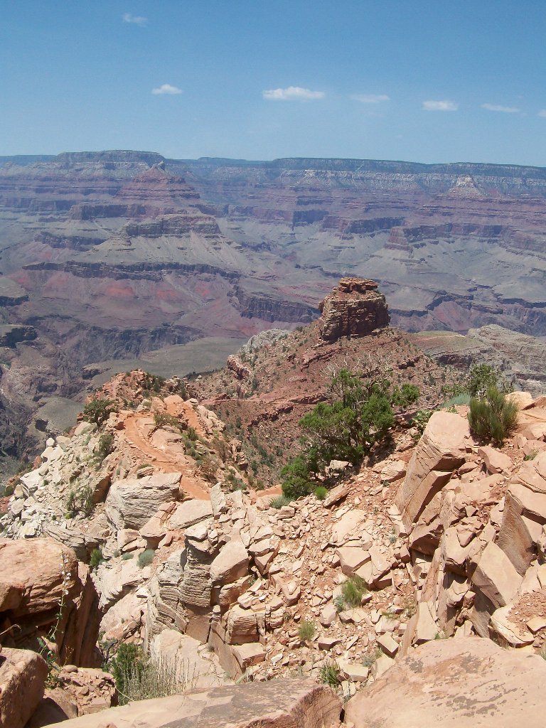 Walking in the Grand Canyon (South Rim), 2008.