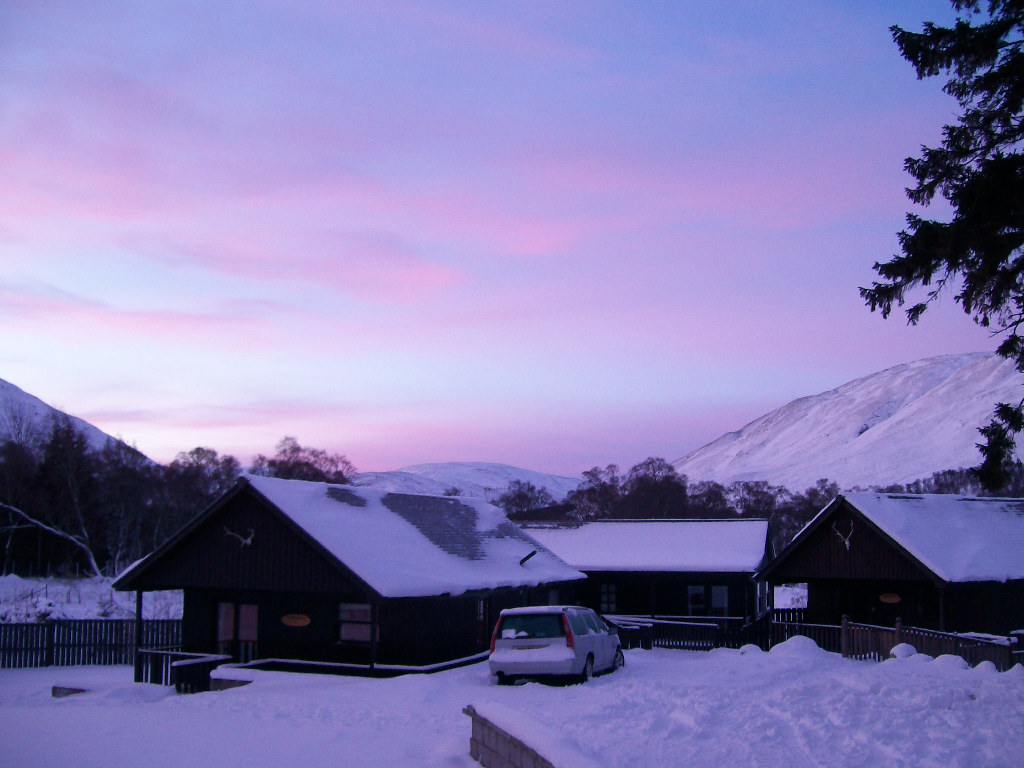 Sunrise in Braemar, Feb 2009.