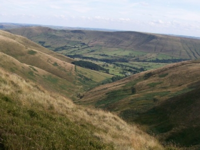 Edale from Kinder Scout. Aug 2009.