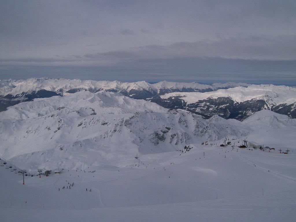 View from the top of the Glacier de Bellecôte, La Plagne, Jan 2010.