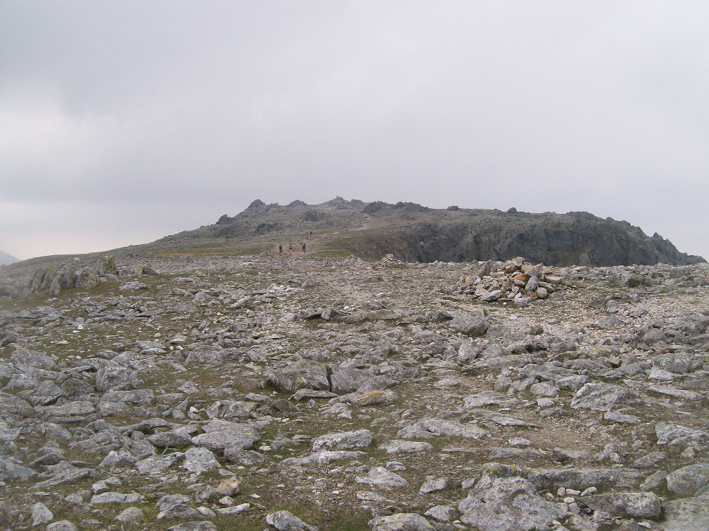Approaching the summit of Glyder Fawr, May 2010.