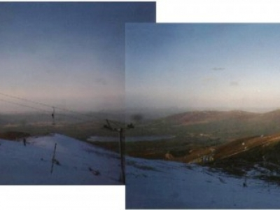 The from the top of the Cas T-Bar, Jan 2000.