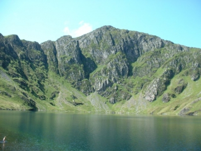 Cadair Idris from Llyn Cau, July 2004. North Wales.