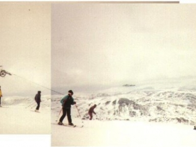 The view from the top of Glas Maol, March 1996.