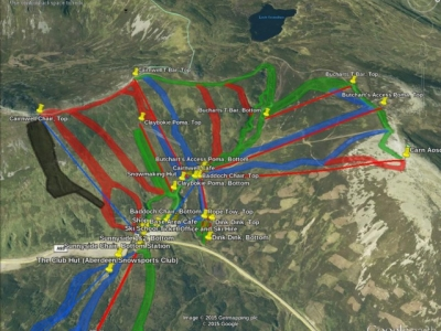 Glenshee, Cairnwell sector map.