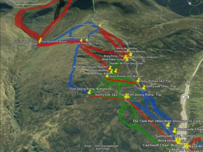 Glenshee, Sunnyside to Glas Moal map.