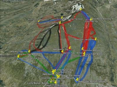 Nevis Range map.