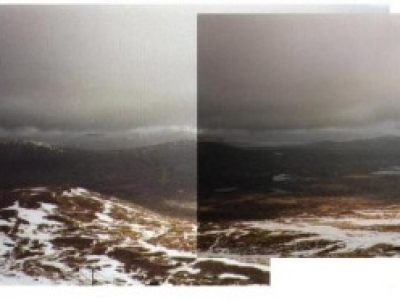 Panoramic view from top of Meall a' Buiridh, Feb 1999