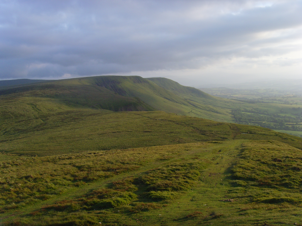 Looking west from Twmpa in the Black Mountains, South Wales.