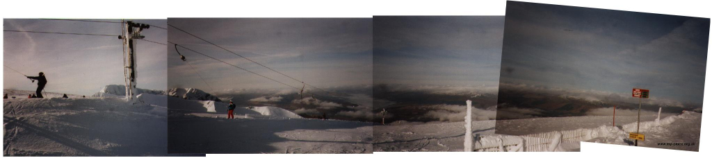 Panoramic view from top of summit button.