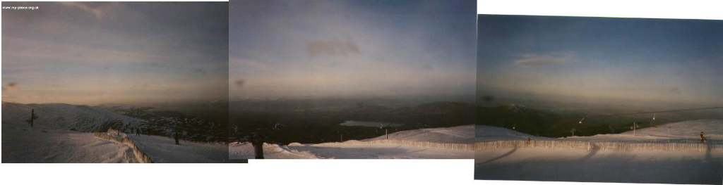 View from the top of the (now dismantled) White Lady T-Bar. Jan 2000.